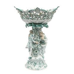 Фарфоровая ваза 19-го века Мейсенского завода