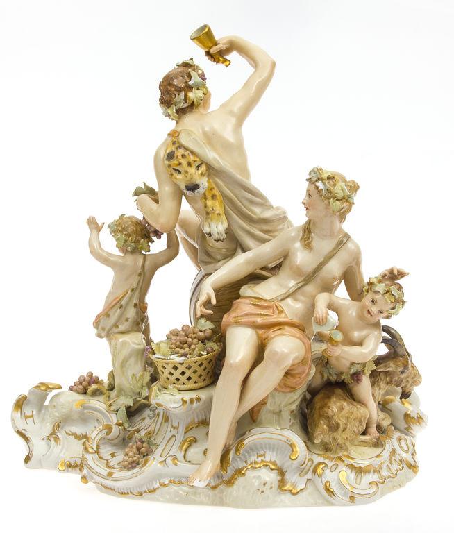 Vācu KPM porcelāna kompozīcija