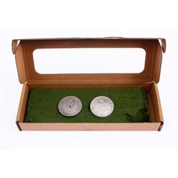 Silver Cufflinks with Coins