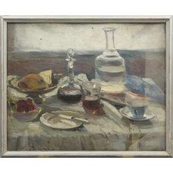 Klusā daba ar karafi (divpusēja glezna)
