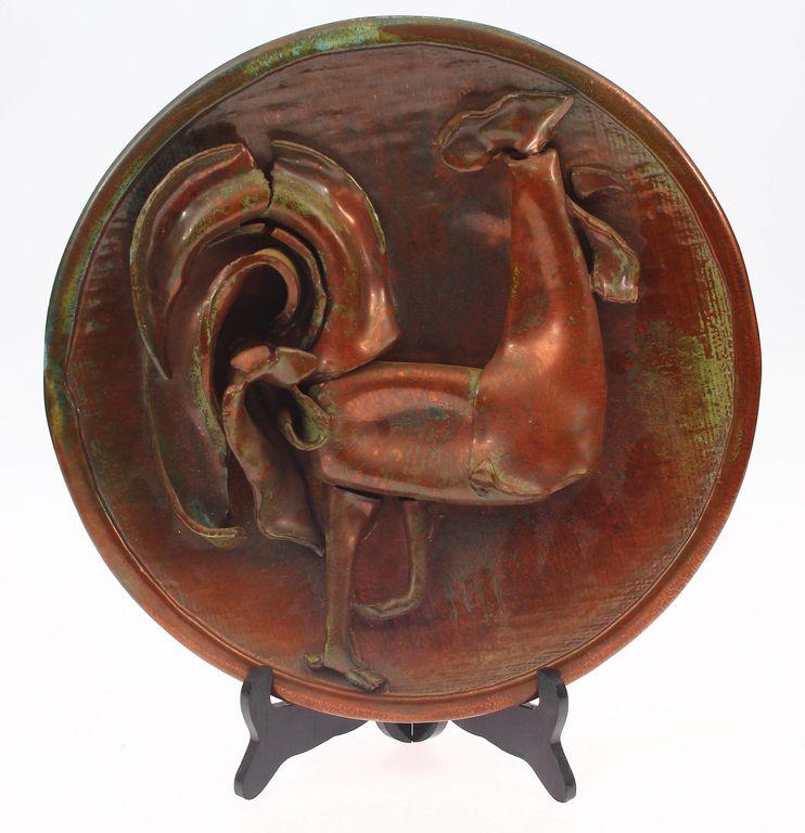 Keramikas dekoratīvais sienas šķīvis