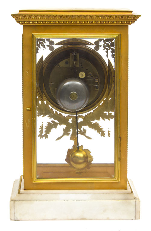 French gilded bronze mantel clock