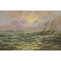 Buru laiva bangojošā jūrā
