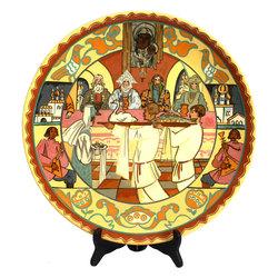 Dekoratīvs Kuzņecova keramikas šķīvis pēc Romana Sutas meta