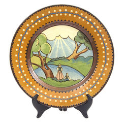 Rīgas keramikas fabrikas dekoratīvs keramikas šķīvis