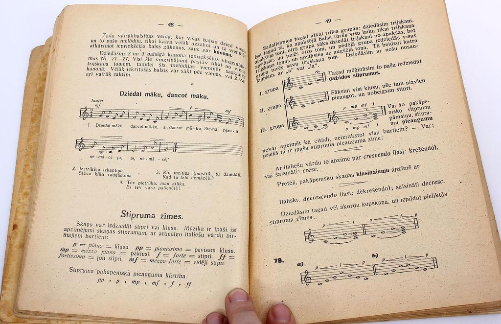 Jēkabs Vītoliņš, Dzirdes mācība(Vingrinājumi un dziesmas dziedāšanas stundām pamatskolās)