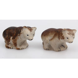 Biscuit figurines 'Animals' 2 pcs.