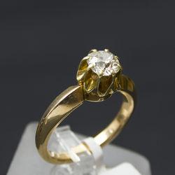 Zelta gredzens ar briljantu