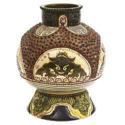 Kuzņecova keramikas vāze ar ķīniešu motīviem