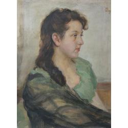 Rīdzinieces, dzimušas aristokrātes Anastasijas Vitkovskas portrets 16 gadu vecumā