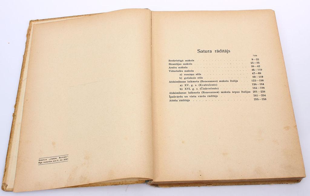 L.J.Sloka, Mākslas vēsture(II daļa)
