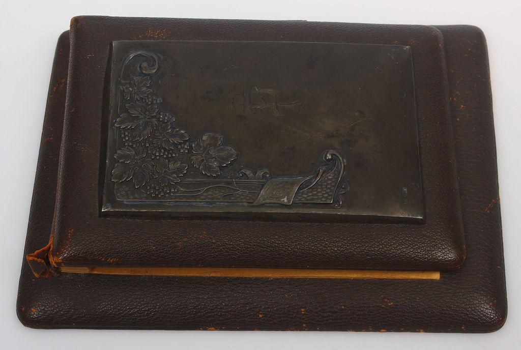 Piezīmju blociņš ar sudrabs apdari