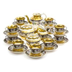 Porcelāna tējas/kafijas porcelāna servīze 11 personām
