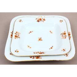 Porcelain Serving Plates - 2 pcs