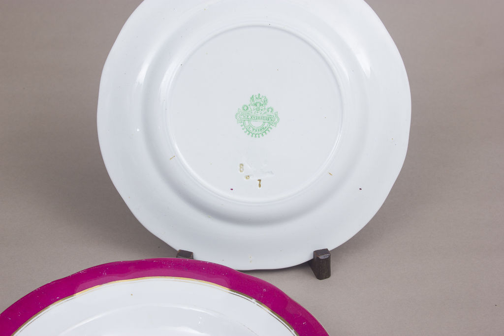 Porcelāna trauku komplekts - 3 šķīvji, 1 zupas bļoda