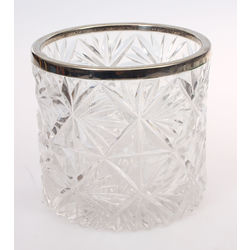 Crystal bowl with metal finish