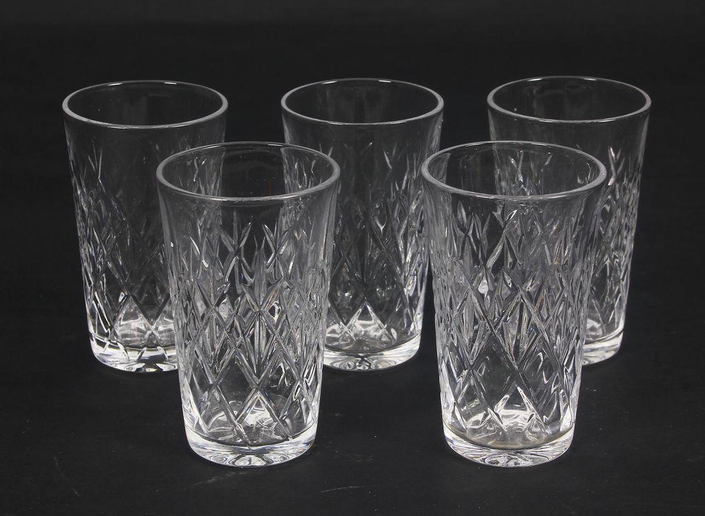 Stikla glāzes 5 gab.