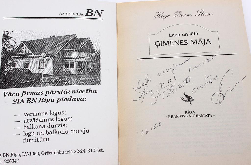 Hugo Bruno Šterns, Laba un lēta ģimenes māja(ar autora autogrāfu)