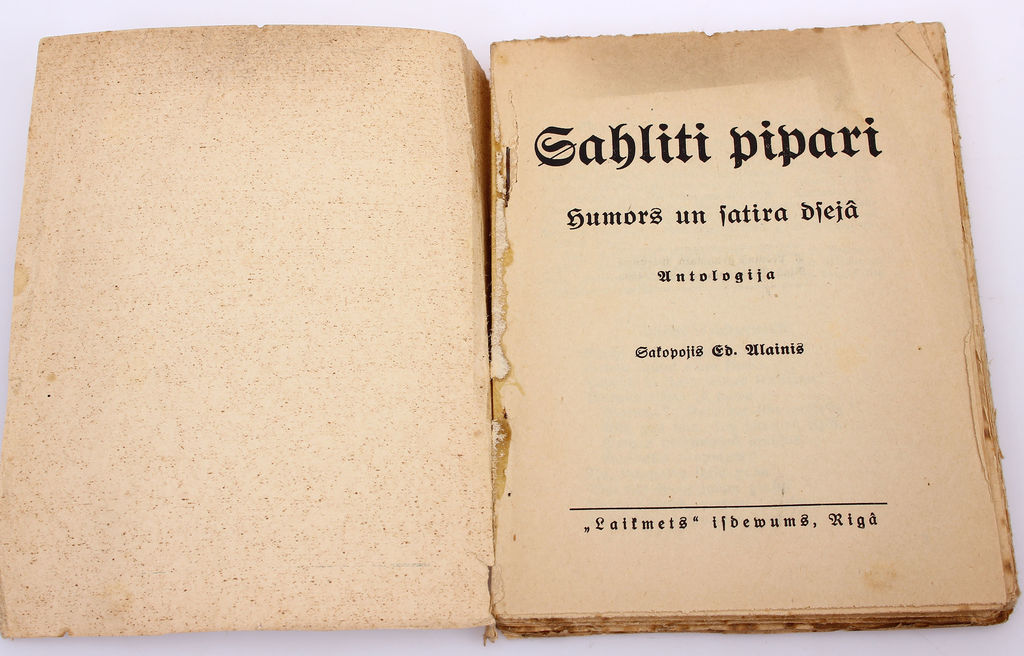 Sālīti pipari(Humors un satīra dzejā)