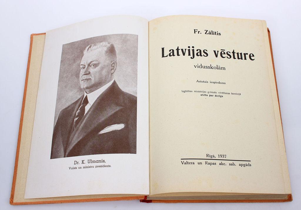 Fr.Zālītis, Latvijas vēsture vidusskolām
