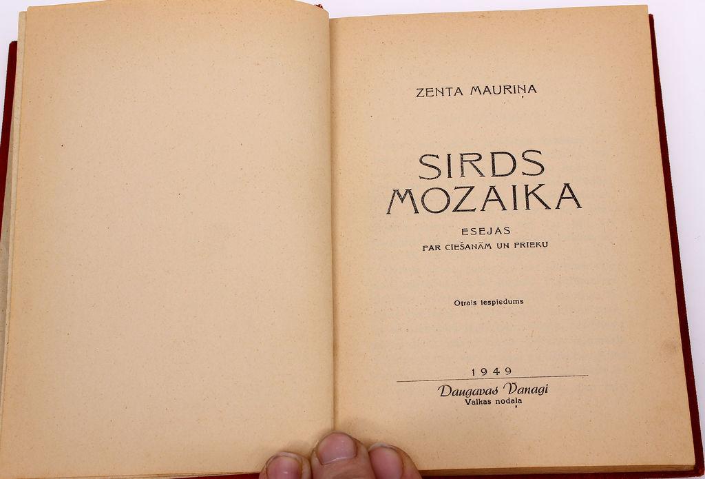 Zenta Mauriņa, Sirds mozaika(esejas)