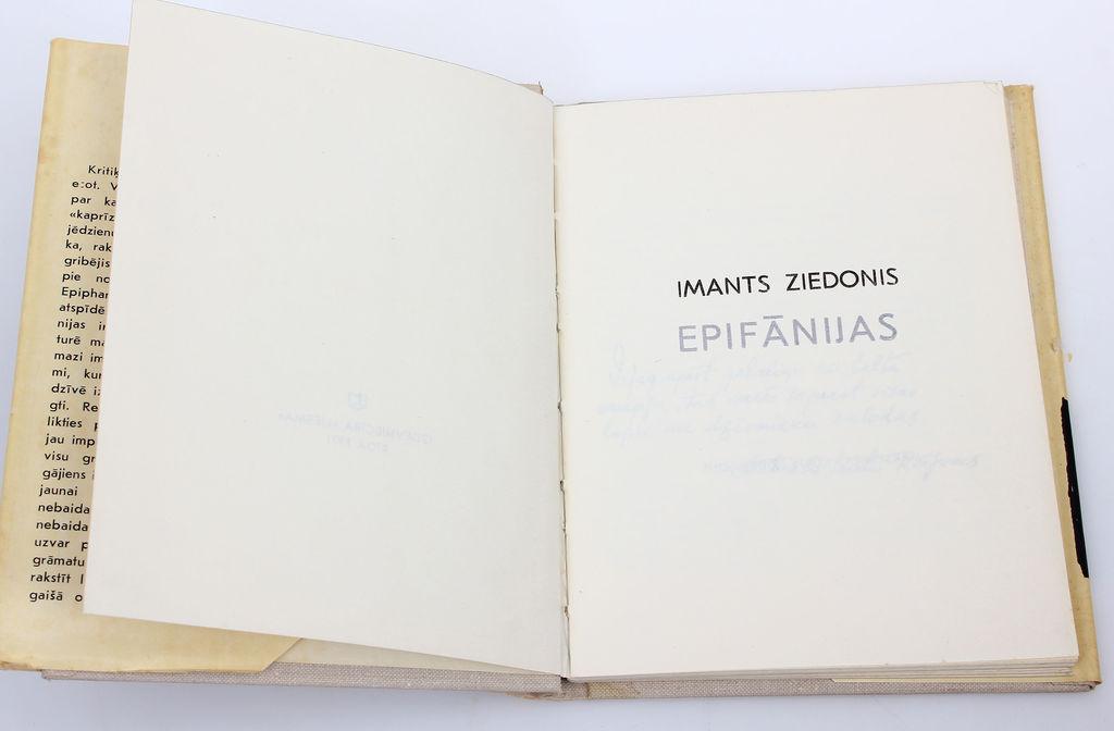 Imants Ziedonis, Epifānijas