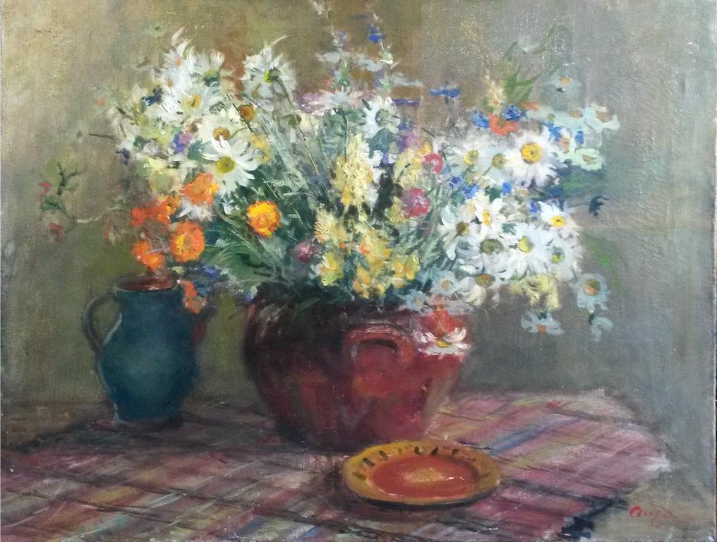 Klusā daba ar vasaras ziediem