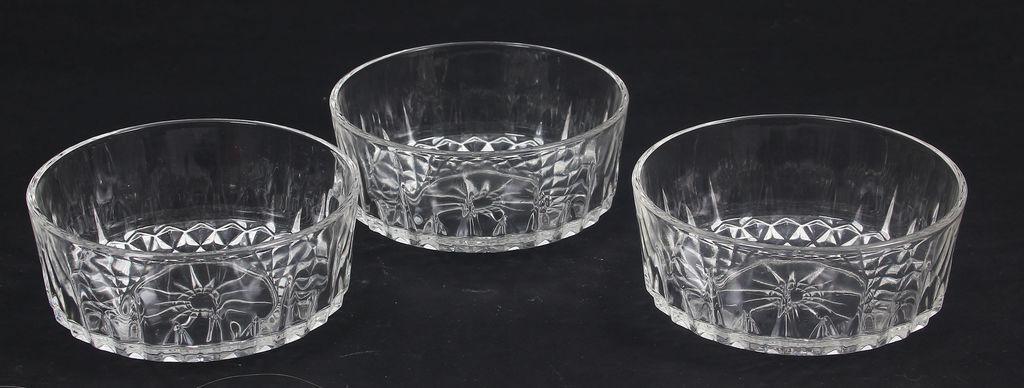 Stikla trauciņi 3 gab.