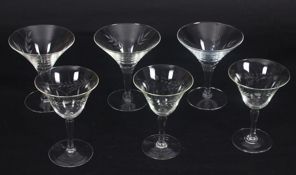 Stikla glāzes 6 gab.(3 lielas, 3 mazas)