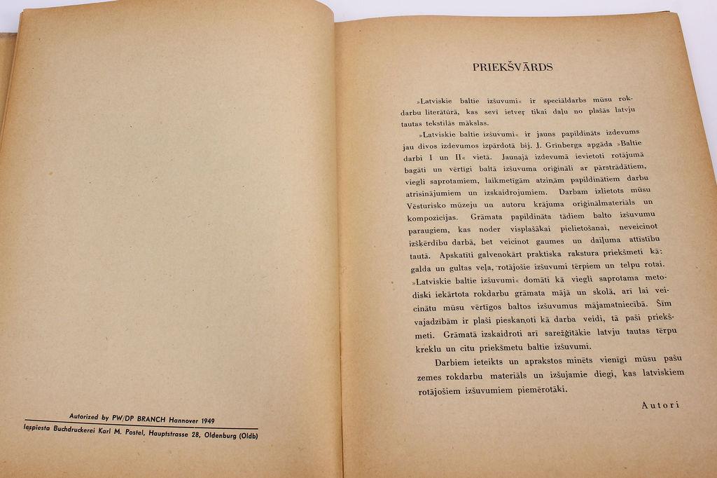 Al., A.Dzērvīši, Latviskie baltie izšuvumi