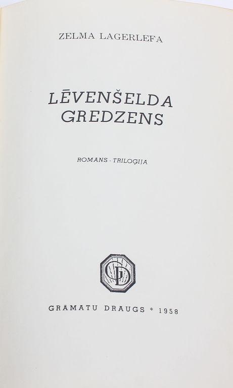 Zelma Lagerlefa, Lēvenšelda gredzens