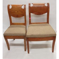 Bīdermeijera stila krēsli (2 gab.)