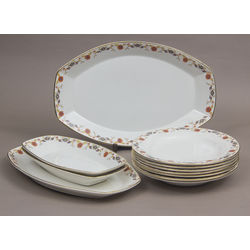 Faience serving dish set