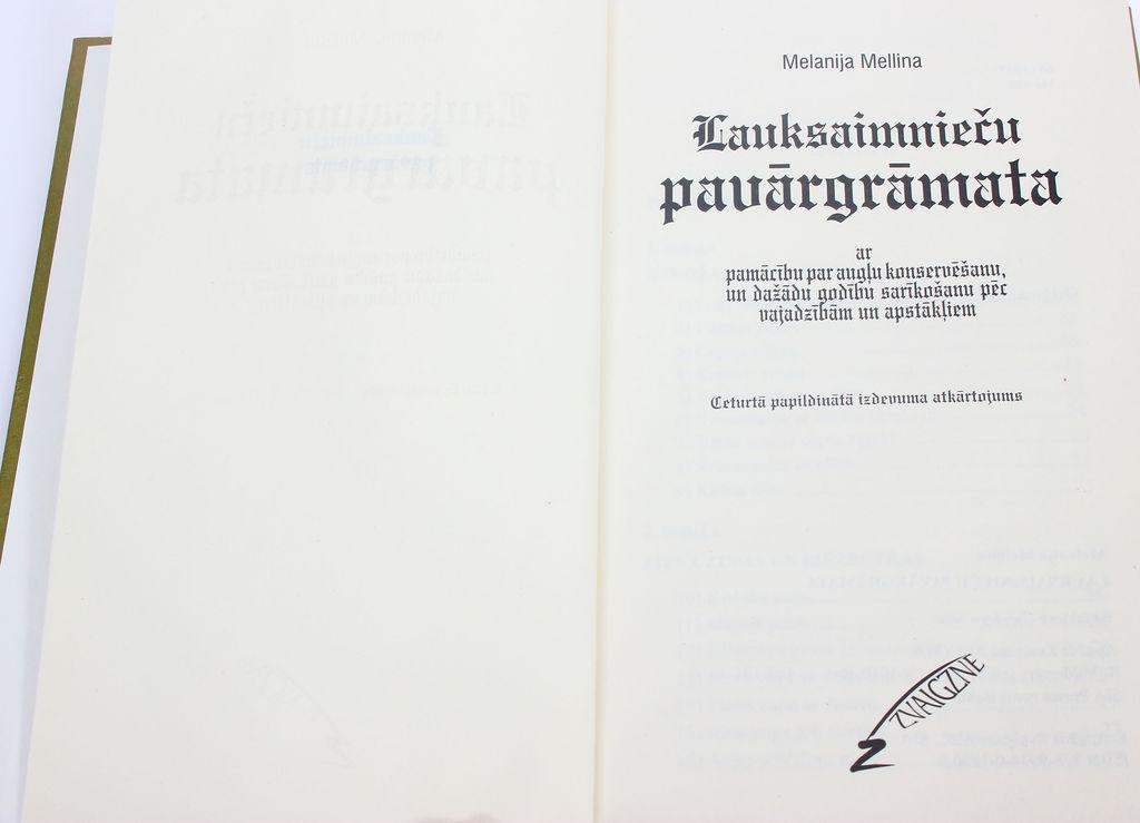 Melanija Mellina, Lauksaimnieču pavārgrāmata (2 grāmatas)