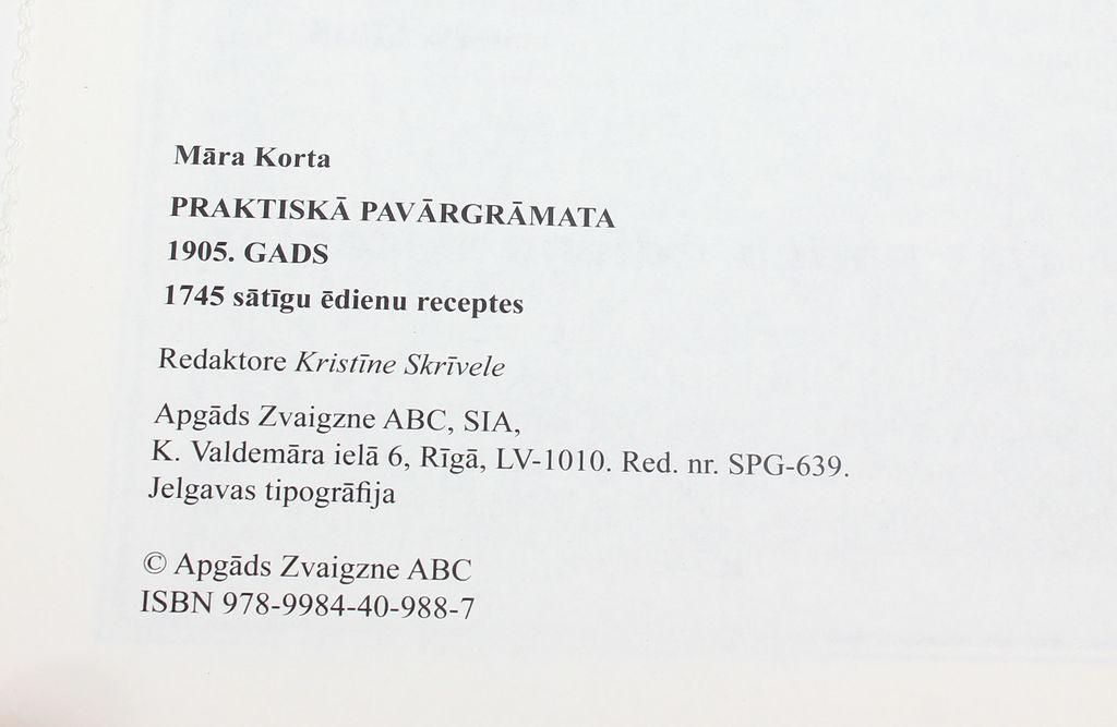 Marra Korth, Praktiska pawahru grahmata 2 gab.