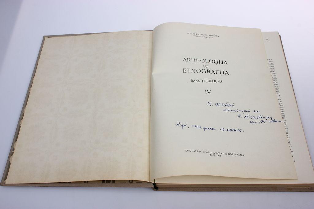 Archeoloģija un etnogrāfija IV