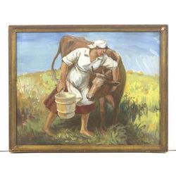Saimniece ar govi