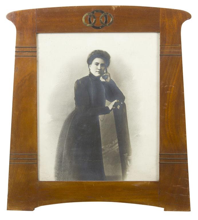 Art nouveau wooden frame