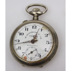 Silver-plated metal pocket watch
