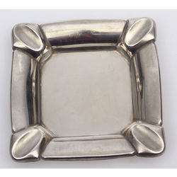 Art Deco Style Silver Plated Ashtray