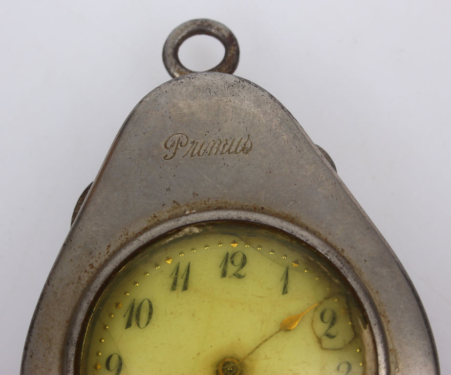 Sudraba kabatas pulkstenis ar zeltījumu oriģinālajā kastītē
