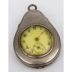 Silver pocket watch with gilding in the original box