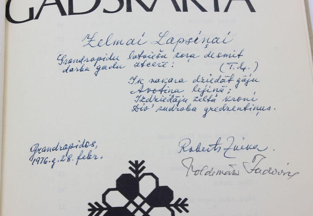 Jānis Norvilis, Senā gadskārta(latviešu tautas dziesmās) ar 2 diriģentu autogrāfiem(Roberta Zuikas un Valdemāra Jadvinska)