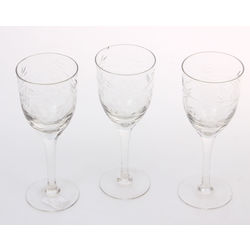 Glass glases 3 pcs.