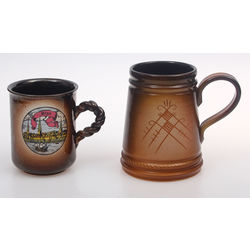 Ceramic beerr cups 2 pcs.