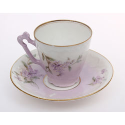 Porcelain cup with the saucer
