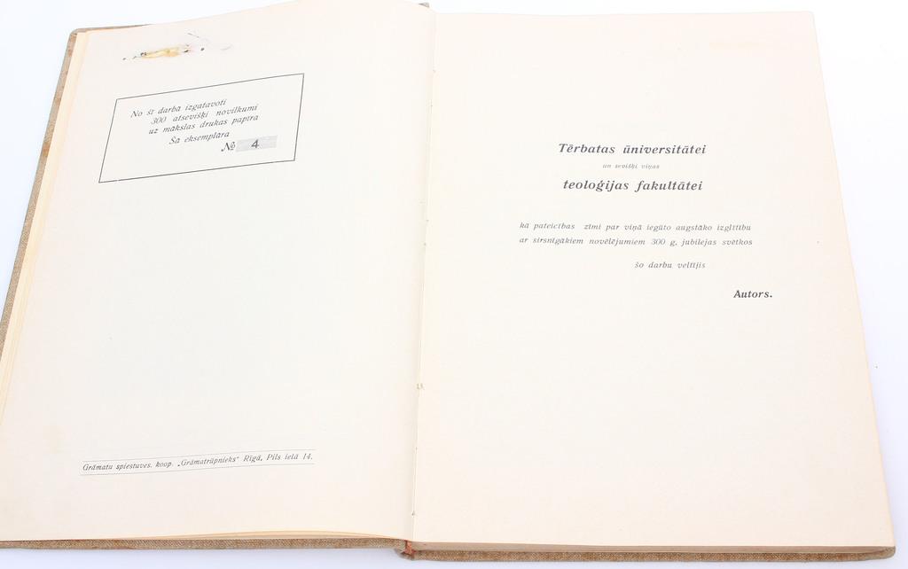 Tērbatas universitāte 1632-1932, Nr.4 (kopumā izdoti 300 atsevišķi novilkumi)