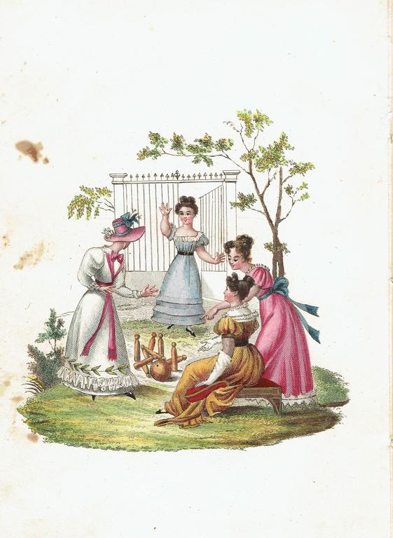 Grāmatas franču valodā ar gravīrām (3 gab.)