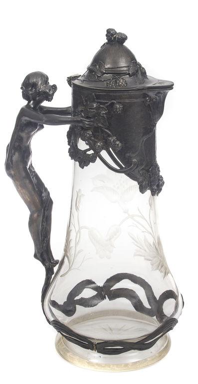 Porcelāna tējkanna ar krējuma trauku