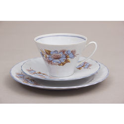 Porcelain Cup with 2 saucers